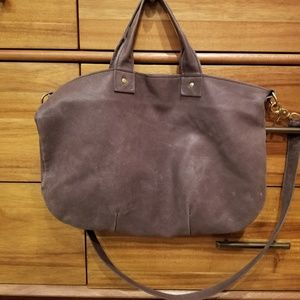 Clare V leather messenger bag